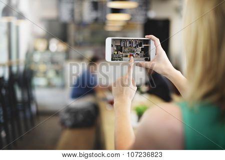 Coffee Shop Bar Cafe Bakery Restaurant Digital Concept