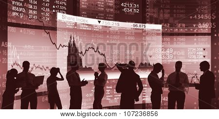 Business People Meeting Investment Finance Stock Exchange Concept