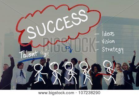 Success Growth Successful Achievement Accomplishment Concept