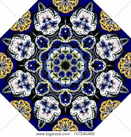 Beautiful abstract vintage ornamental picture  can be used as interior pattern or clothes pattern.