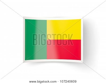 Bent Icon With Flag Of Benin