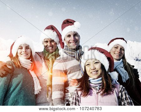 Christmas Winter Snow Friendship Relaxation Travel Concept