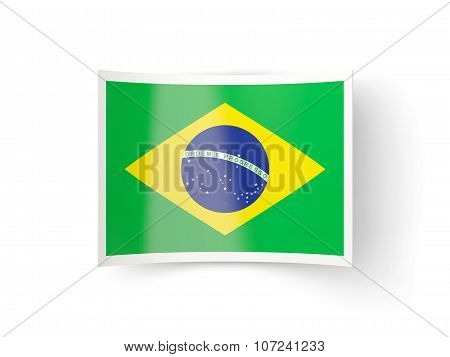 Bent Icon With Flag Of Brazil