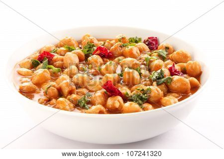 Spicy Indian famous channa masala