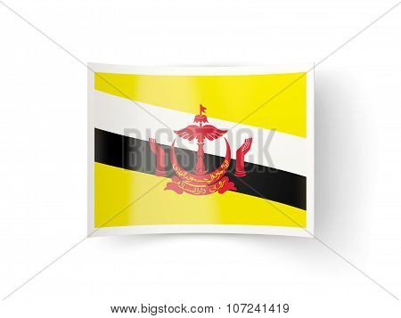 Bent Icon With Flag Of Brunei