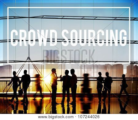 Crowedsourcing Collaboration Group Online Community Concept