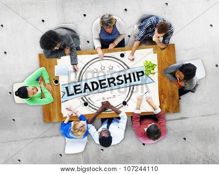 Leadership Leader Authoritarian Management Trainer Concept
