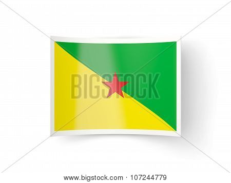 Bent Icon With Flag Of French Guiana