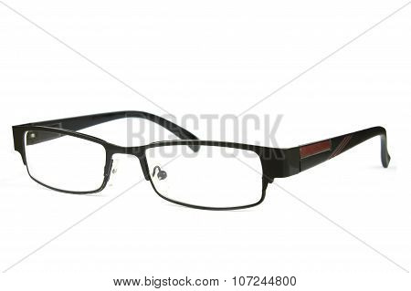 Adult Fashion Glasses On White Background, Sideview