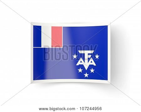 Bent Icon With Flag Of French Southern Territories