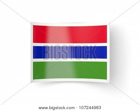 Bent Icon With Flag Of Gambia