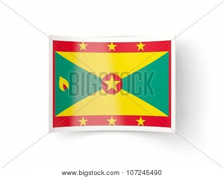 Bent Icon With Flag Of Grenada