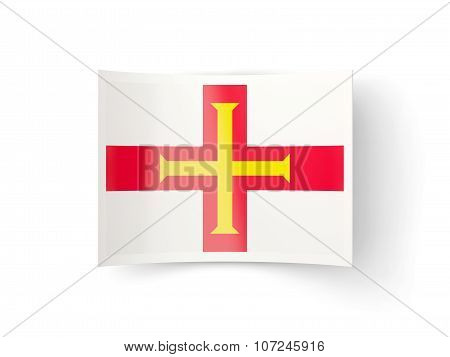 Bent Icon With Flag Of Guernsey