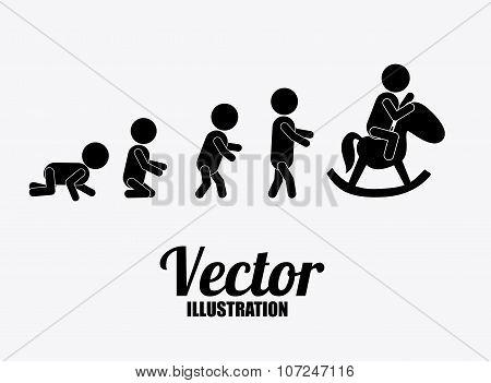 Family design, vector illustration.