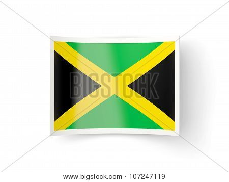 Bent Icon With Flag Of Jamaica