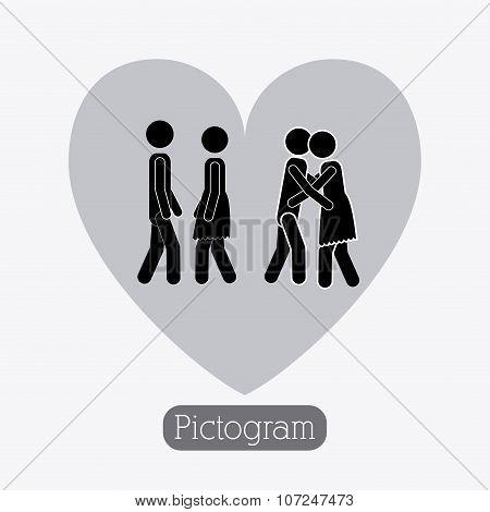 Couple design, vector illustration.