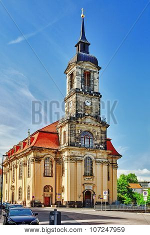 Anne Church (annenkirche) In A Center Of The Dresden Old Town. Dresden Has A Long History As The Cap