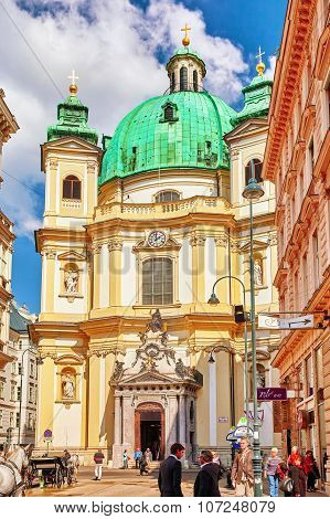 Catholic Church Of St. Peter( Katholische Kirche St. Peter),vienna.austria.