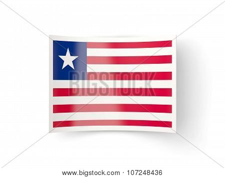 Bent Icon With Flag Of Liberia