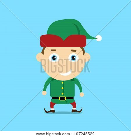 Christmas Elf Cartoon Character Santa Helper