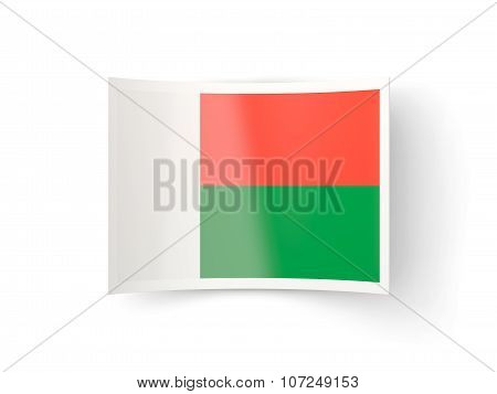 Bent Icon With Flag Of Madagascar