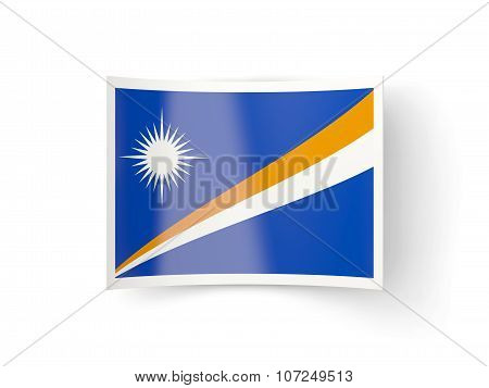 Bent Icon With Flag Of Marshall Islands