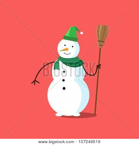 Snowman White Cartoon Snow Character Icon