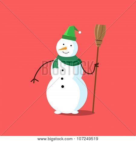 Snowman White Cartoon Snow Character Icon