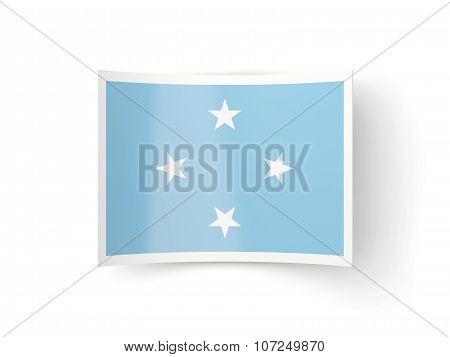 Bent Icon With Flag Of Micronesia