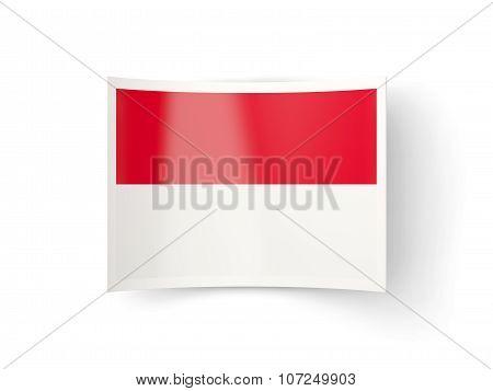 Bent Icon With Flag Of Monaco
