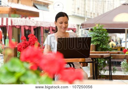 Successful Young Woman Working Freelance