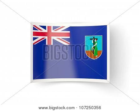 Bent Icon With Flag Of Montserrat