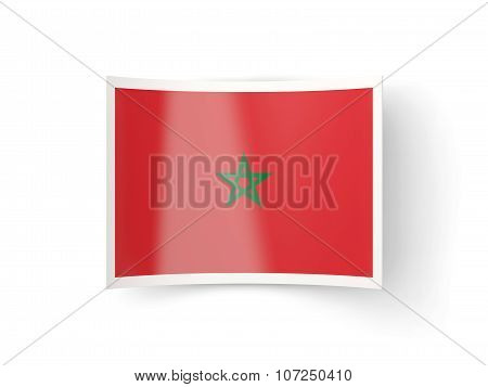 Bent Icon With Flag Of Morocco