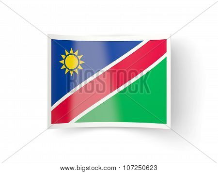 Bent Icon With Flag Of Namibia