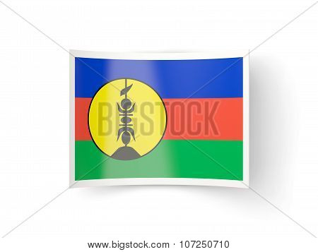 Bent Icon With Flag Of New Caledonia