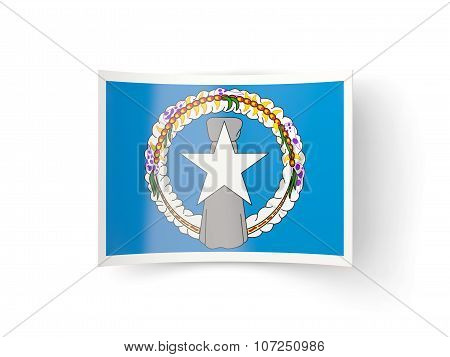 Bent Icon With Flag Of Northern Mariana Islands
