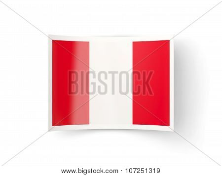 Bent Icon With Flag Of Peru