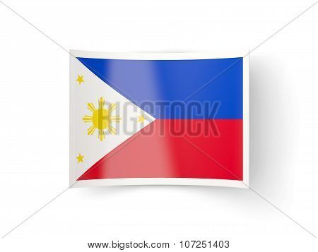 Bent Icon With Flag Of Philippines