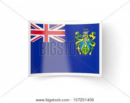 Bent Icon With Flag Of Pitcairn Islands