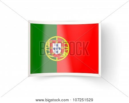 Bent Icon With Flag Of Portugal