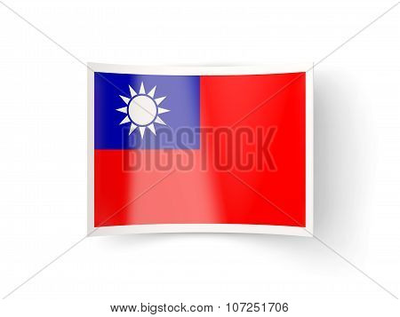 Bent Icon With Flag Of Republic Of China