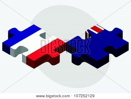 France And Falkland Islands Flags