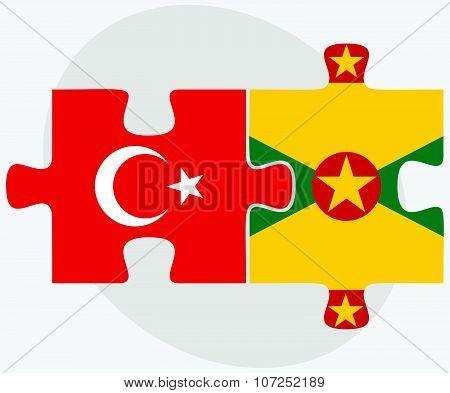 Turkey And Grenada Flag