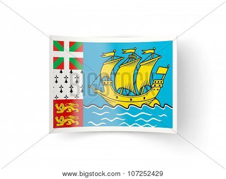 Bent Icon With Flag Of Saint Pierre And Miquelon