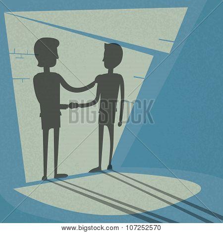 Handshake Business Hands Shake Black Deal Concept Businessman