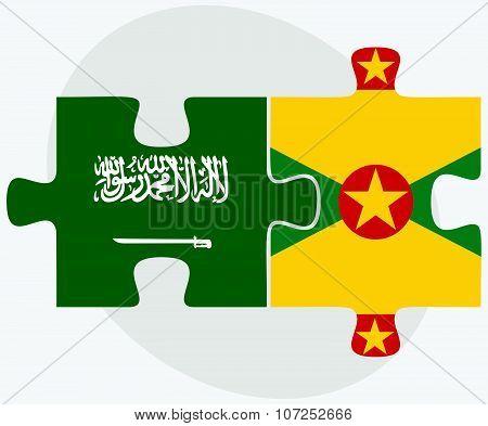 Saudi Arabia And Grenada Flags