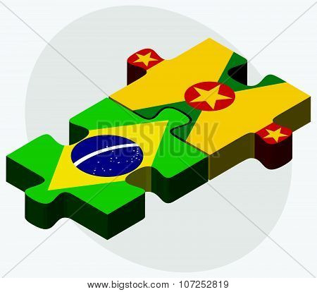 Brazil And Grenada Flags