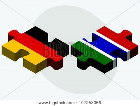 Germany And Gambia Flags