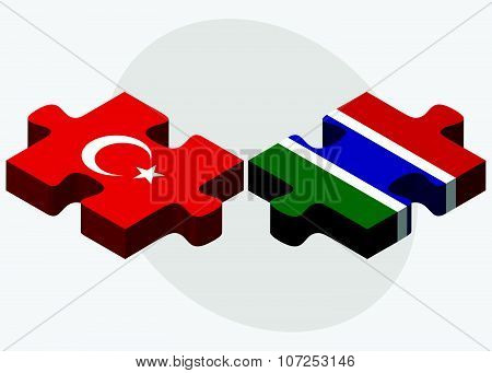 Turkey And Gambia Flags