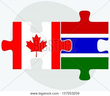 Canada And Gambia Flags